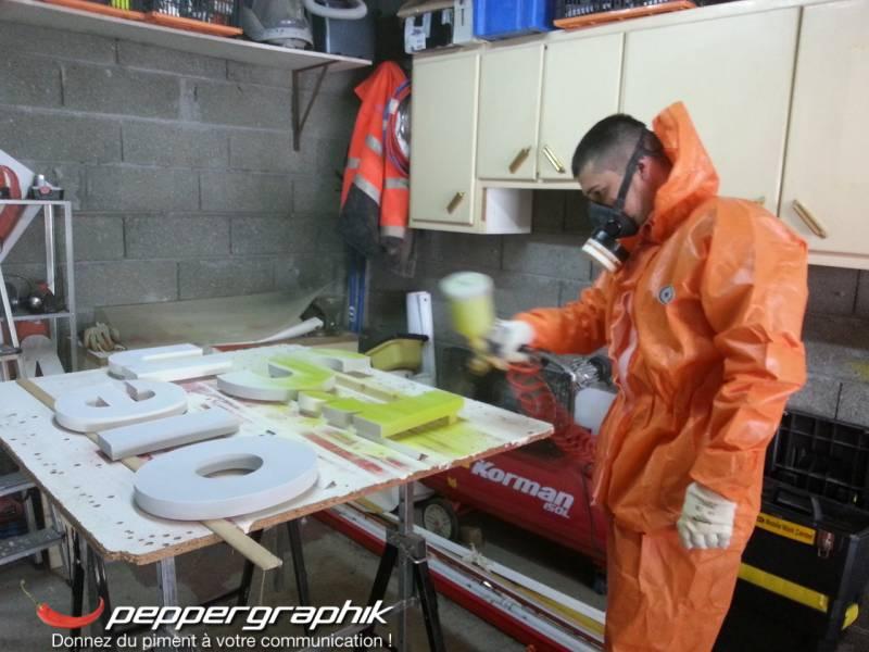 Super Fabrication et pose d'enseigne Le Havre - Peppergraphik HN94